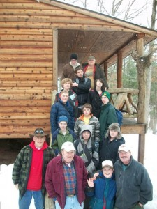 Boy Scout Troop 624 at Winter Camp