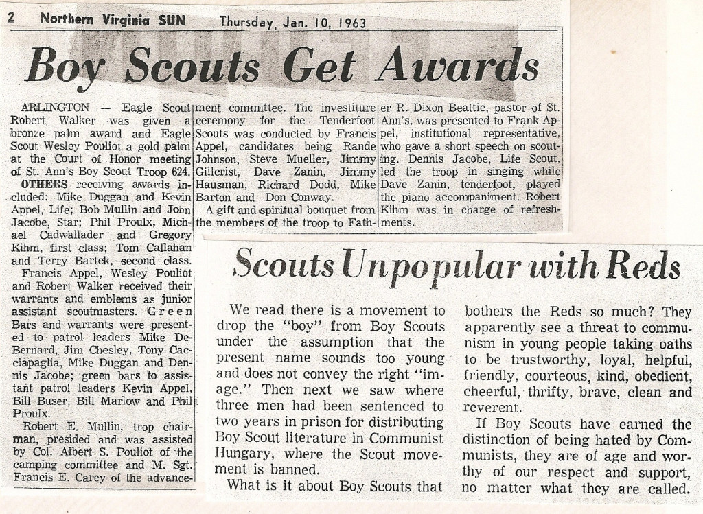 1963 Scout Award Article